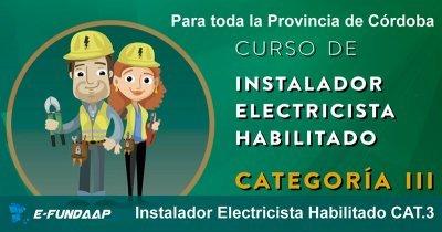 Instalador Electricista Categoría III Ersep