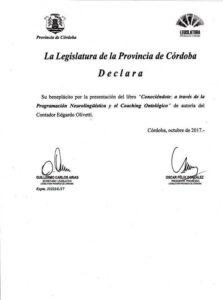 Libro Conociendote - Legislatura